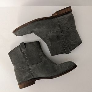Madewell The Otis Suede Ankle Boots Size 8 Gray